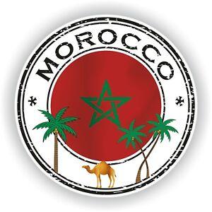 Seal Sticker of Morocco Stamp Bumper Roundel Laptop Car