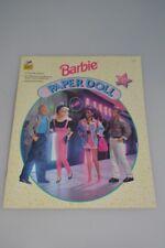 Mattel Barbie Paper Doll-Golden Books #2018 Barbie Therese Ken Steven Unused Toy