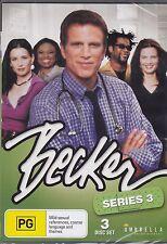 BECKER- SERIES 3 - Ted Danson, Hattie Winston- 3 DVD's - 24 EPISODES