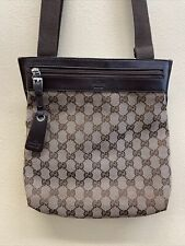 GUCCI Logo GG Pattern Crossbody Shoulder Bag Italy Excellent Condition