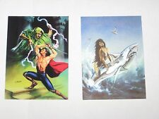 1994 JULIE BELL FANTASY ART P1 P2 PROMO CARD SET! DEMON PALACE BEAUTY & BEAST!