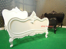 Super King Size 6' White  French style Baroque  bed . not rococo