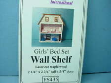 Miniature Girls Bed Set Wall Shelf Kit #FS435 Dragonfly Intl 1/12tjh