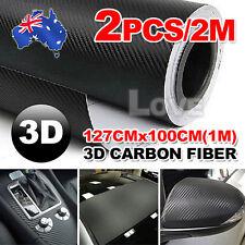 2X 1M OZ 3D Film Carbon Fiber Vinyl Wrap Sheet Roll Car Sticker Phone Laptop DIY