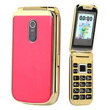 "2.4"" Flip Mobile Phone Cellphone Dual Sim Cards Support Flashlight for Elderly"