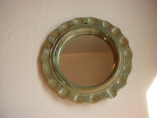 Pottery Framed Wall Mirror 8 Inch Artisan Made Handcrafted