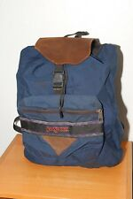 JanSport Blue Backpack Drawstring Top Leather Top cover