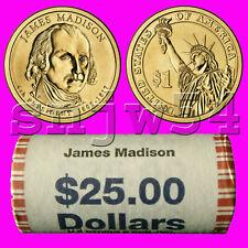 2007  - D  President  James Madison   Presidential Golden  Unc Dollar   H/T Roll