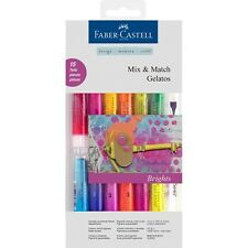 #121813 FABER CASTELL 12 colori luminosi Bastoncini Watersoluble PASTELLI Craft Misto
