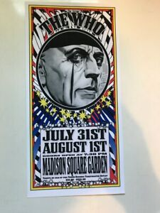 THE WHO Madison Square Garden  handbill