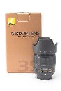 Nikon Nikkor AF-S 35mm F/1.8 G ED Lens - Boxed with Hood, Pouch and Lens Caps