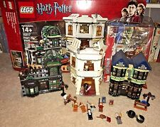 LEGO HARRY POTTER DIAGON ALLEY 10217 LOOKS TO BE COMPLETE WITH BOX, FIGURES!!