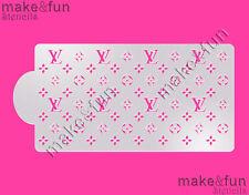 Designer logo Stencil, Cookie Stencil, Pochoir, Decoupage stencil, Schablonen