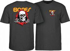 Powell Peralta Bones Ripper Skateboard Shirt Charcoal Heather Xxl