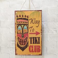 TIKI BAR SIGN TROPICAL PARTY DECORATION HOME COCKTAIL BEACH POOL HAWAIIAN SUMMER