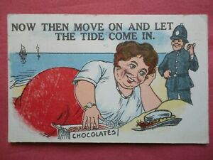 REDG SERIES COMIC POSTCARD POLICE SEASIDE BLETCHLEY STATION BUCKINGHAMSHIRE 1903