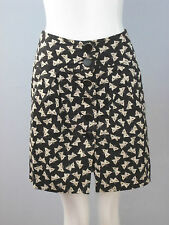 FRENCH CONNECTION Size 0 Black Beige Butterfly Print Skirt