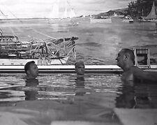 President Lyndon Johnson with Jack Valenti in White House pool New 8x10 Photo