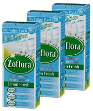 3 X Zoflora 3 in 1 Action Concentrated Disinfectant Linen Fresh 500ml
