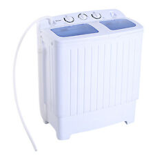 Home Portable Mini Compact Twin Tub 11lb Washing Machine Spinner Equipment Tool