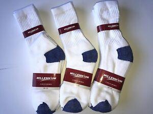 New 12 Pairs Men's Bule Toe Crew Socks 10-13.