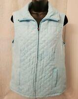 Studio Works Womens Bluish Green Sueded Lined Vest Jacket Coat Size S