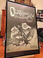 "BIG 11X17 FRAMED JON ANDERSON YES ""OLIAS OF SUNHILLOW"" LP ALBUM CD B&W PROMO AD"