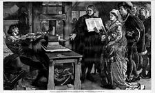 PRINTING PRESS WILLIAM CAXTON FIRST ENGLISH PRINTER PUBLISHER PRINTING PROOFS