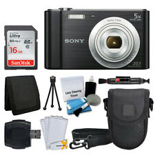 Sony Cyber-shot DSC-W800 20.1 MP Digital Camera (Black) + 16GB Card + More