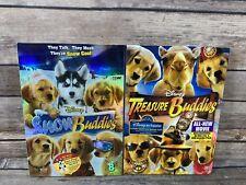 Snow Buddies + Treasure Buddies DVD Lot Disney Dog Family Kids Films VG