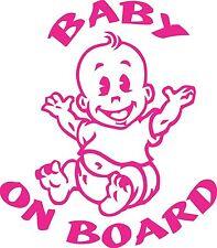 Baby on Board 200 mm x 175 mm Marine Grade material.