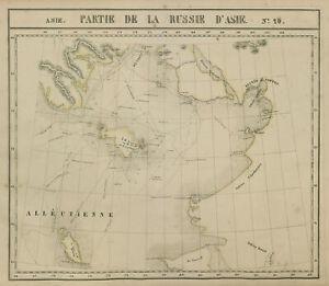 Russie d'Asie #20 Russia Alaska Bering Strait Norton Sound VANDERMAELEN 1827 map