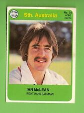 SCANLENS 1978 CRICKET CARD #38  IAN McLEAN, SOUTH  AUSTRALIA