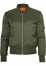Urban Classics Basic Bomber Jacket Giacca Uomo Grün (olive 176) Small