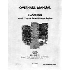 Lycoming Helicopter VO-435-A Series Engine Overhaul Manual Part# 60294-2