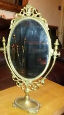 Brass Oval Dressing Table Decorative Mirrors