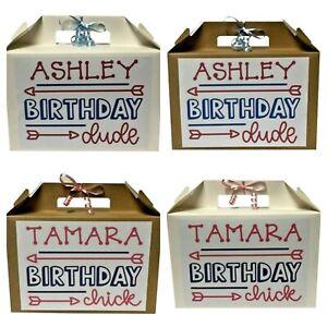 Personalised Birthday Gift Box Unisex Birthday Present Party Birthday Chick/Dude
