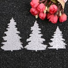 3pcs Christmas Tree Metal Die cutting Dies DIY Scrapbooking Paper Card Embossing