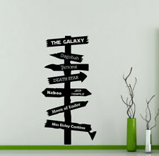 Road Sign Star Wars Wall Decal Geek Gift Vinyl Sticker Decor Movie Poster 54me