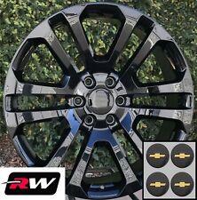 20 x9 inch RW CK158 Wheels for Chevy Silverado 1500 Gloss Black Rims 6x139.7 Set