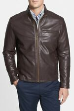 NWT  Cole Haan  Men's Lambskin Leather Jacket  2XL  Brown $499  NEW