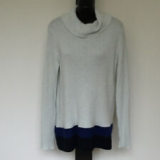 'MARCO POLO' BNWT SIZE 'S' PALE BLUE LONG SLEEVE TOP WITH BLUE & BLACK STRIPE