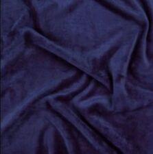 Plain Peluche POLY COTONE JERSEY BLU NAVY TESSUTO-FQ 50cm x73cm