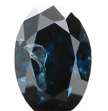 Natural Loose Diamond Oval I1 Clarity Blue Color 3.50 MM 0.12 Ct KR1186