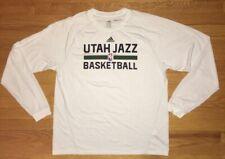 Adidas Climalite Utah Jazz NBA Basketball Long Sleeve Mens Size Large White