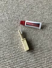 """American Girl Melody's toothpaste tube toothbrush from travel set for 18"""" dolls"""