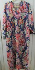 MARY McFADDEN Vintage 80s Hostess Gown Caftan Mumu  Floral Maxi Dress OS