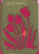 Morn Sun Pochoir à estamper Laiton Tulipes 5,8x8,2 Brass Stencil Flowers
