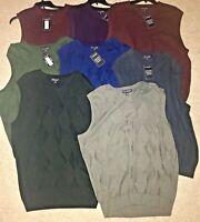 NWT Mens Sweater Vest Roundtree & Yorke V-Neck Pullover XL XLT 2XLT XXLT XXB 2XB