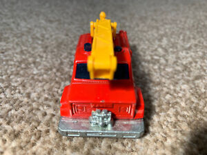 Matchbox Lesney Superfast 1977 No13 Snorkel Fire Engine RED GOOD CONDITION.
